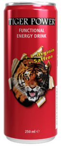 Tiger Power Functional Energy Drink Red Line